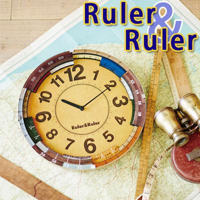 インテリア 時計【WallClock/Ruler&Ruler】CL-9584ルーラールーラー/インターフォルム壁掛け時計 失敗しないインテリア 年末インテリア