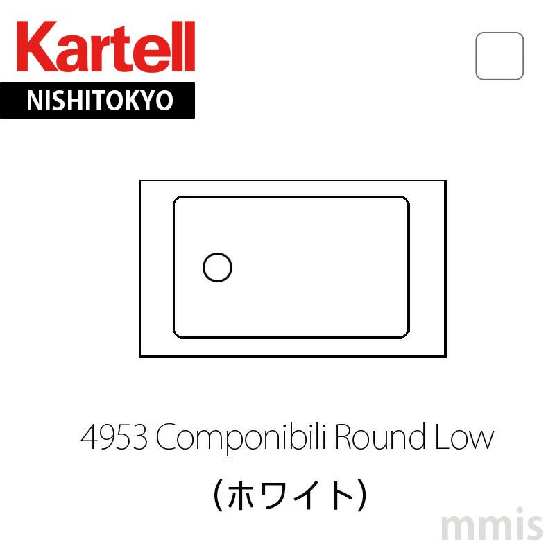 Componibili Roundコンポニビリラウンド L1 (天板別売り)4953 White 新生活 気持ち切替スイッチ インテリアコーディネート