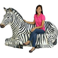 シマウマのベンチ オブジェ/ Zebra Seat (Not in Aus) 送料別途お見積りfr120058 失敗しないインテリア 年末インテリア