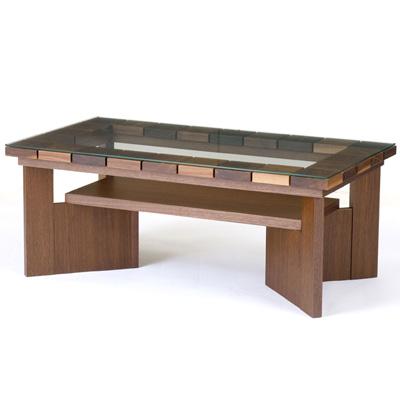 天然木 テーブル レグナテック【Cotto/コット リビングテーブル -れんが-】RO/レッドオーク  おしゃれなインテリアの作り方 アウトドアリビングが気持ちいい