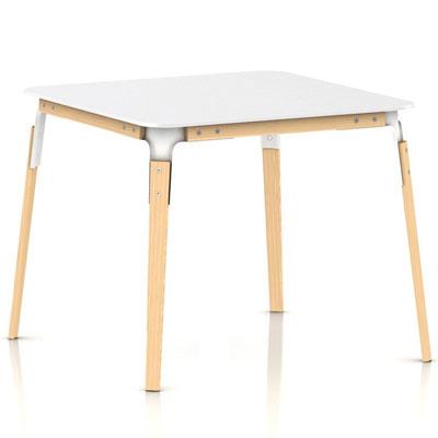 マジス ダイニングテーブル【STEEL WOOD TABLE スチールウッドテーブル W900xD900xH760 ナチュラル】【受注生産品】「R&EB」  おしゃれなインテリアの作り方 アウトドアリビングが気持ちいい