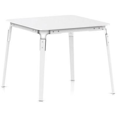 マジス ダイニングテーブル【STEEL WOOD TABLE スチールウッドテーブル W900xD900xH760 ホワイト】【受注生産品】「R&EB」  おしゃれなインテリアの作り方 アウトドアリビングが気持ちいい