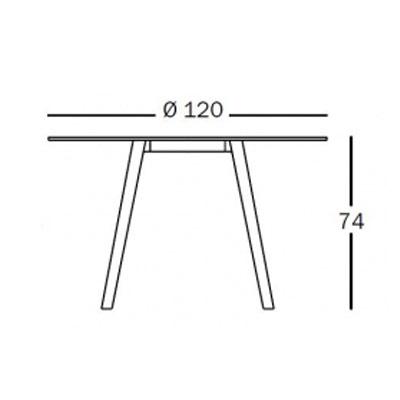 デスク ダイニングテーブル マジスTV1764【Pilo】ブラック Φ120サイズ「R&EB」 失敗しないインテリア 年末インテリア