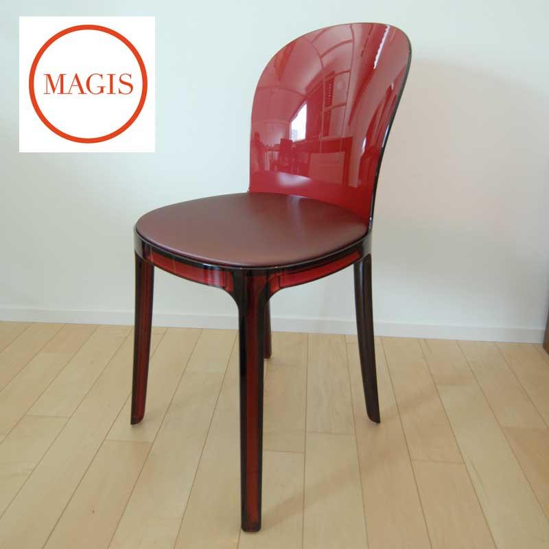 ダイニングチェア クッションMurano Vanity chair ムラーノ バニティ チェア SD1526 (RED)マジス「SG」  おしゃれなインテリアの作り方 アウトドアリビングが気持ちいい