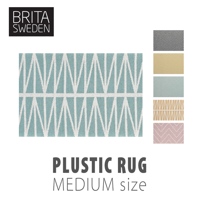 BRITA SWEDEN ブリタ スウェーデン ラグ Mサイズ 70×100cmリバーシブル プラスチック 夏のトラベルインテリア mmis流遊び方
