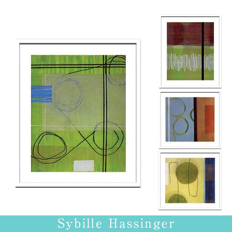 アートポスター 【Sybille Hassinger】【額付】 涙が出ちゃう春のインテリア コーディネート無料