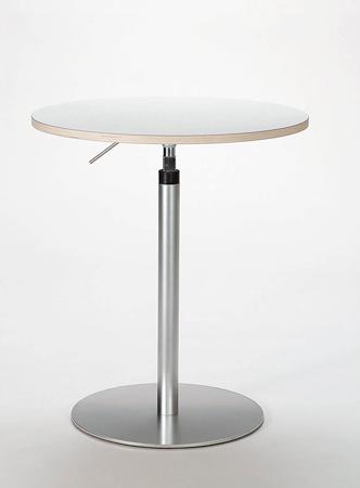 カウンターテーブル BRIO 昇降テーブルφ600  ホワイト 新生活 気持ち切替スイッチ インテリアコーディネート