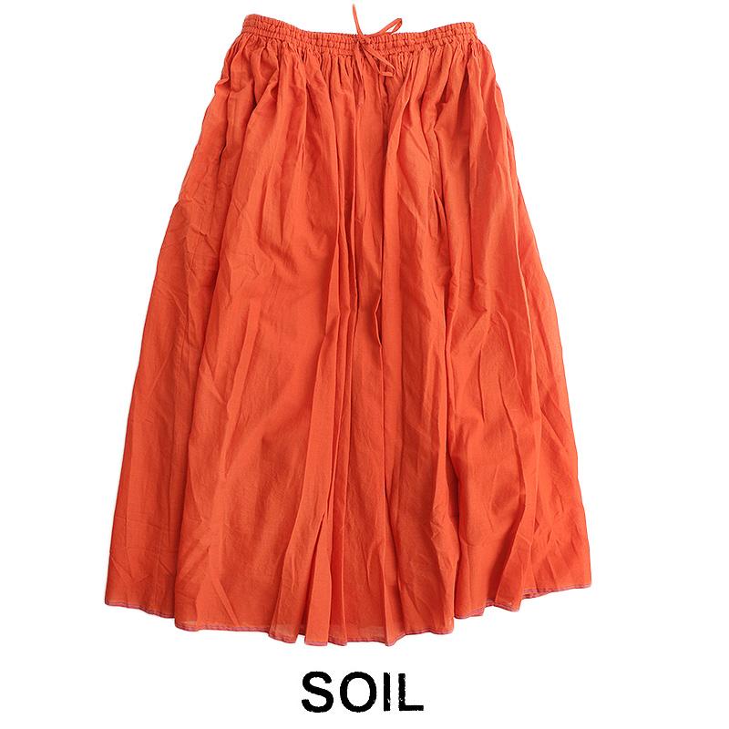【2019SS】【送料無料】SOIL ソイル ギャザースカート NSL19005