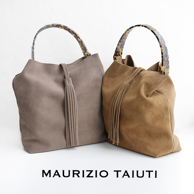 m【SALE対象外】【送料無料】MAURIZIO TAIUTI マウリツィオタユーティ スウェードバッグ B16200