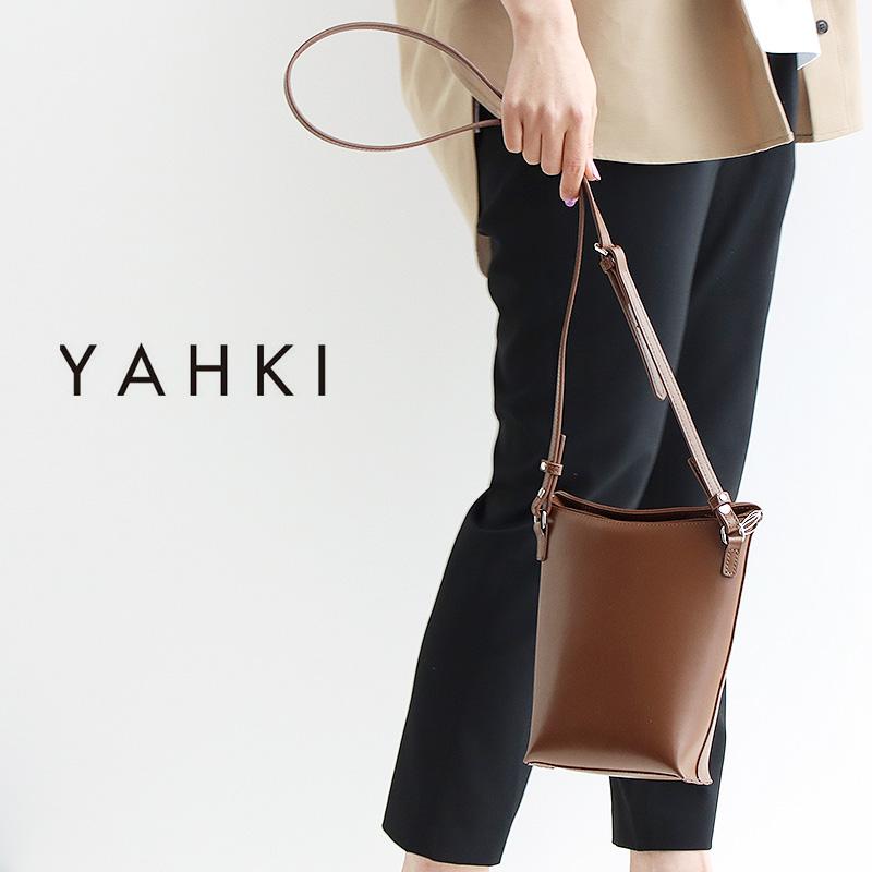 安い YAHKI ヤーキ スムースレザーショルダーバッグ SMOOTH YH-365 優先配送