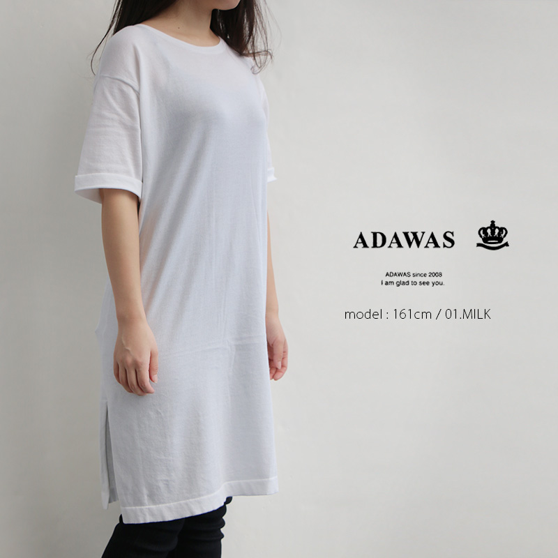 m【2019SS】【送料無料】ADAWAS アダワス コットンワンピース ADWS-807-17