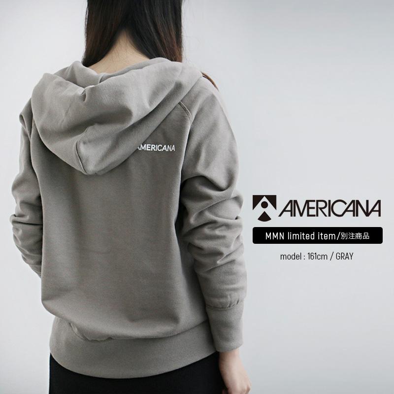 【10%★OFF】【2020SS】AMERICANA×MMN【別注アイテム】アメリカーナ フルジップパーカー(バックロゴ) BRF-871 GB.2(back logo)