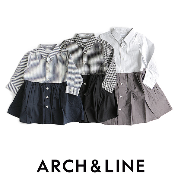 d【SALE対象外】【送料無料】【kids】ARCH&LINE アーチ&ライン バイカラーブラウスワンピース AL612606