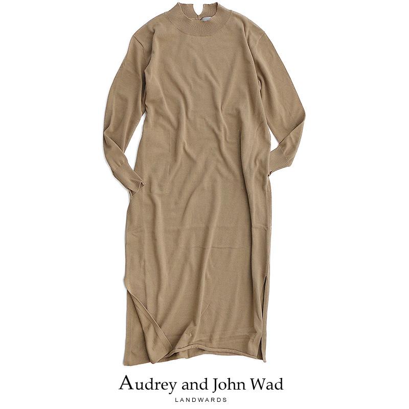 m【2019SS】【送料無料】Audrey and Johnwad オードリーアンドジョンワッド クルーネックロングスリーブマキシワンピース H2716