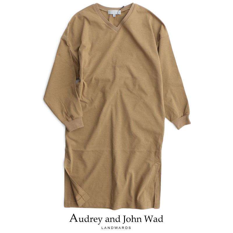 m【2019SS】【送料無料】Audrey and Johnwad オードリーアンドジョンワッド Vネックロングスリーブワンピース H2907