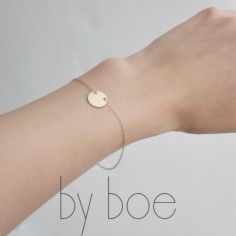 by boe バイボー サークルチャームブレスレット(GOLD) B170