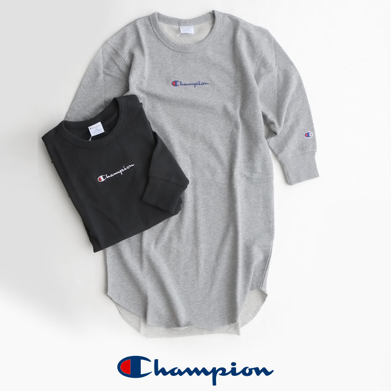 【2019AW】【kids】Champion チャンピオン L/S tunic tee ロングスリーブチュニックTEE CS6285