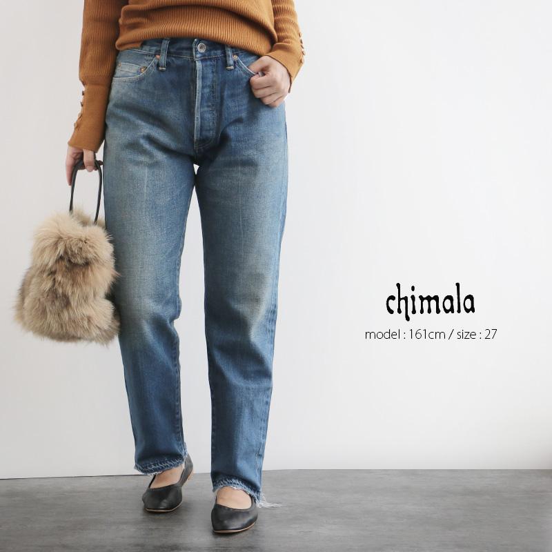 【20%★OFF】chimala チマラ セルヴィッジナローテーラードカットデニム CS28-WP05B