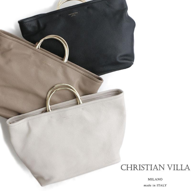 m【2019SS】【送料無料】CHRISTIAN VILLA クリスチャンヴィラ 2wayレザートート 4238