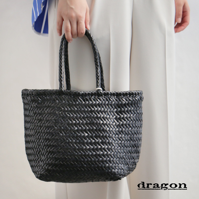 m【2019SS】【送料無料】DRAGON DIFFUSION ドラゴンディフュージョン レザーメッシュバスケットバッグ(小) GRACE BASKET SMALL 8813