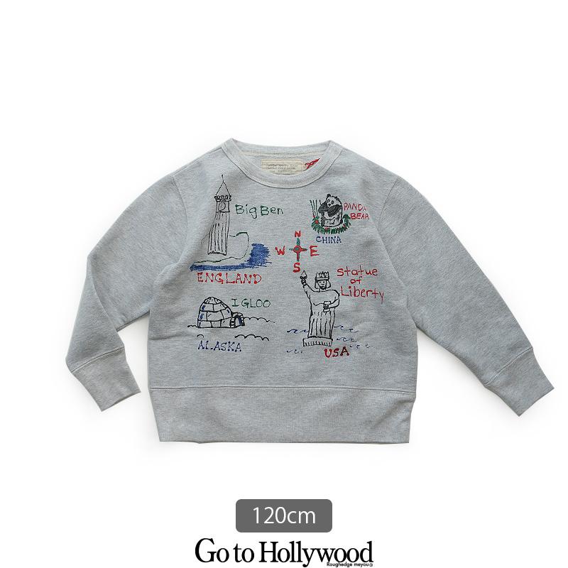 【kids】Go to Hollywood ゴートゥーハリウッド 裏起毛ラクガキ変形スウェット 1288401【120cm】