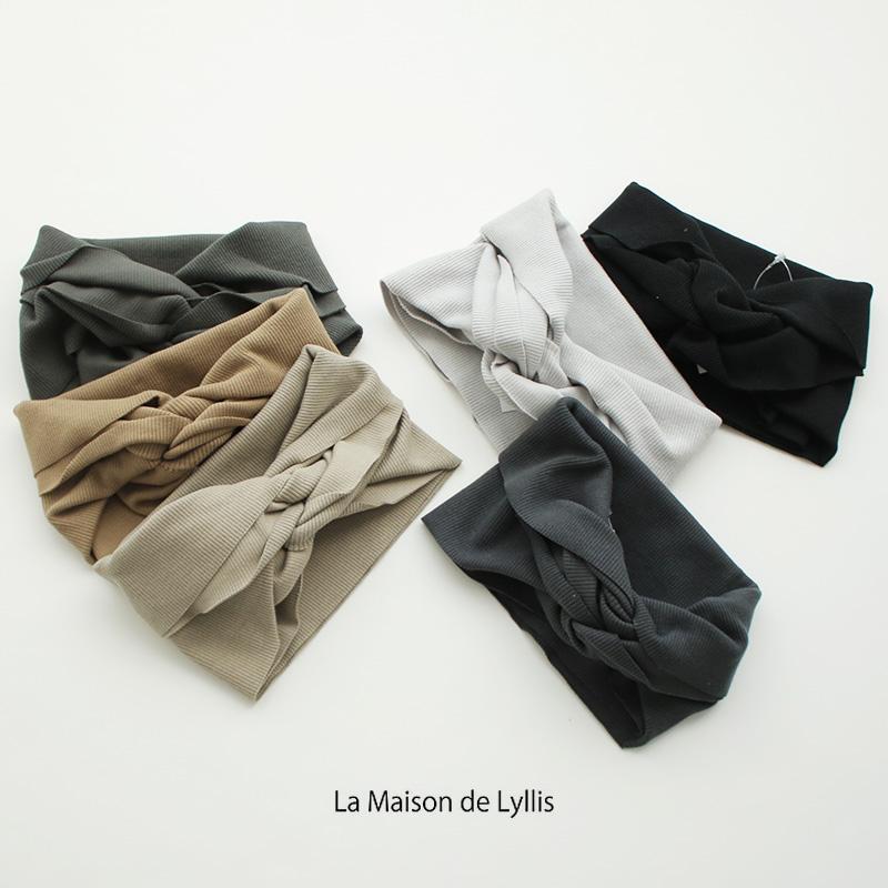 SALE対象外 La Maison de Lyllis×MMN カラー別注 ド 驚きの価格が実現 メゾン LOOPヘアバンド スピード対応 全国送料無料 リリス ラ 2203119