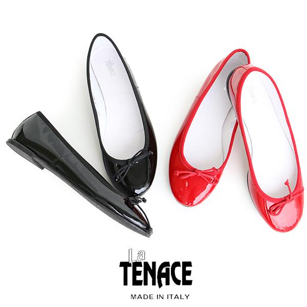 【10%★OFF】La TENACE ラテナーチェ パテントバレエシューズ 882(VERNICE)レインシューズ・梅雨