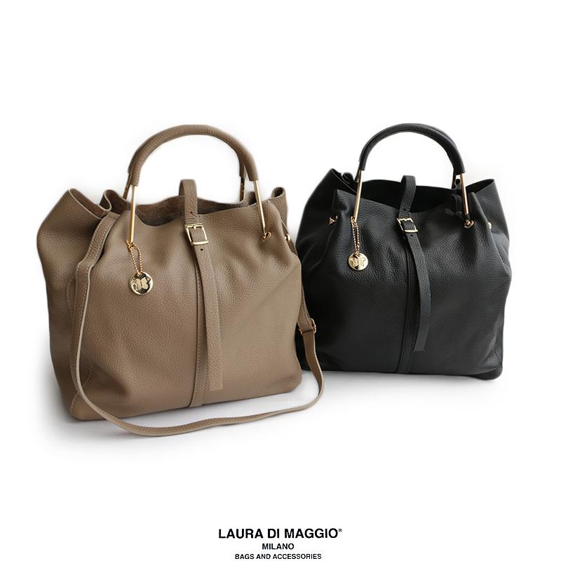 【40%★OFF】LAURA DI MAGGIO ローラディマッジオ 2wayレザーハンドバッグ ART.978