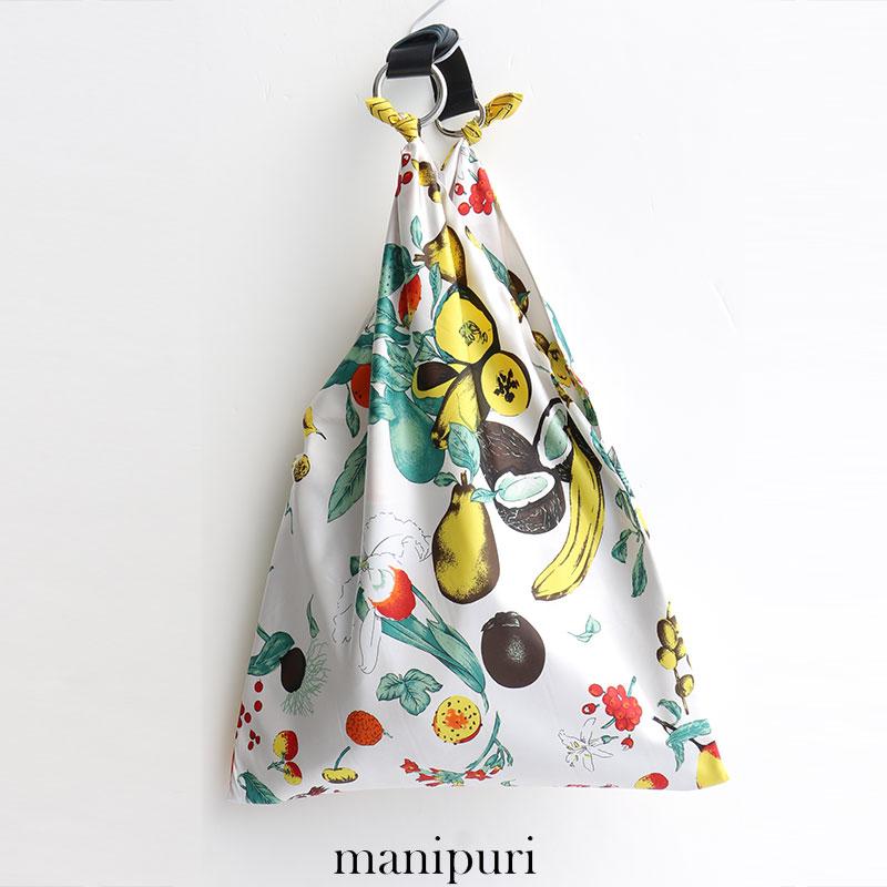 s【SALE対象外】【2018SS】【送料無料】manipuri マニプリ スカーフバッグ(L) Fruit yellow