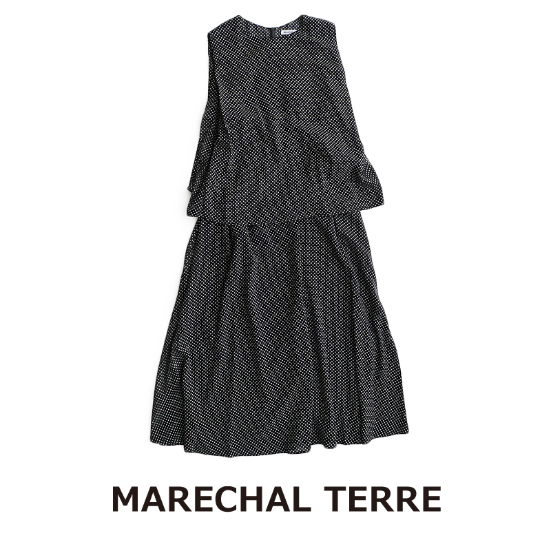 【10%★OFF】【2020SS】MARECHAL TERRE マルシャルテル レイヤードワンピース ZMT203OP719