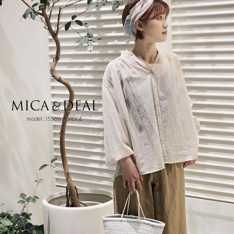 【10%★OFF】【2020SS】MICA&DEAL マイカアンドディール ギャザーブラウス M20B086SHstayhome01
