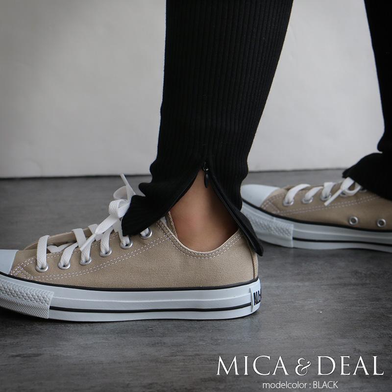 d【20%★OFF】【2018AW】【送料無料】MICA&DEAL マイカアンドディール サイドジップリブレギンス M18D226