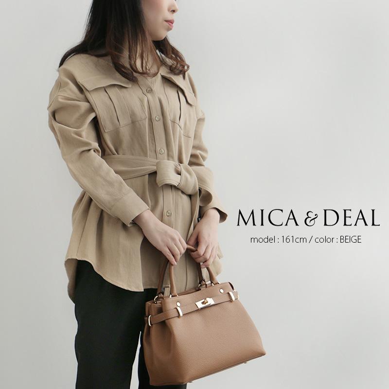 【30%★OFF】【2020SS】MICA&DEAL マイカアンドディール ベルト付きウォッシャブルビッグシャツ M20A023