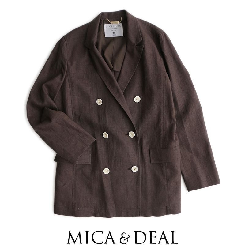 【2020SS】MICA&DEAL マイカアンドディール リネンダブルジャケット リネンダブルジャケット リネンダブルジャケット M20A053 dde