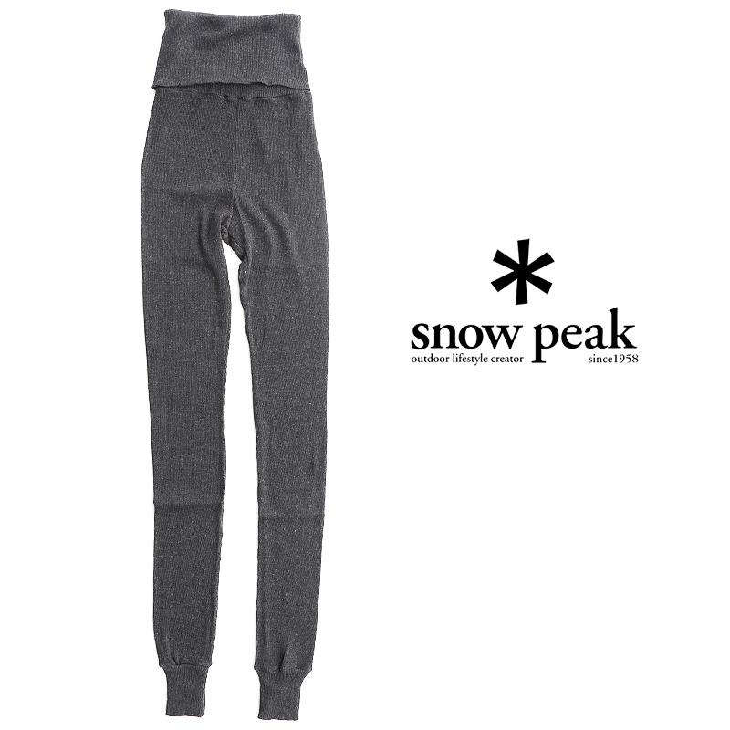 【2019SS】【送料無料】snow peak スノーピーク リブレギンス Ultimate Pima PA-19SW203