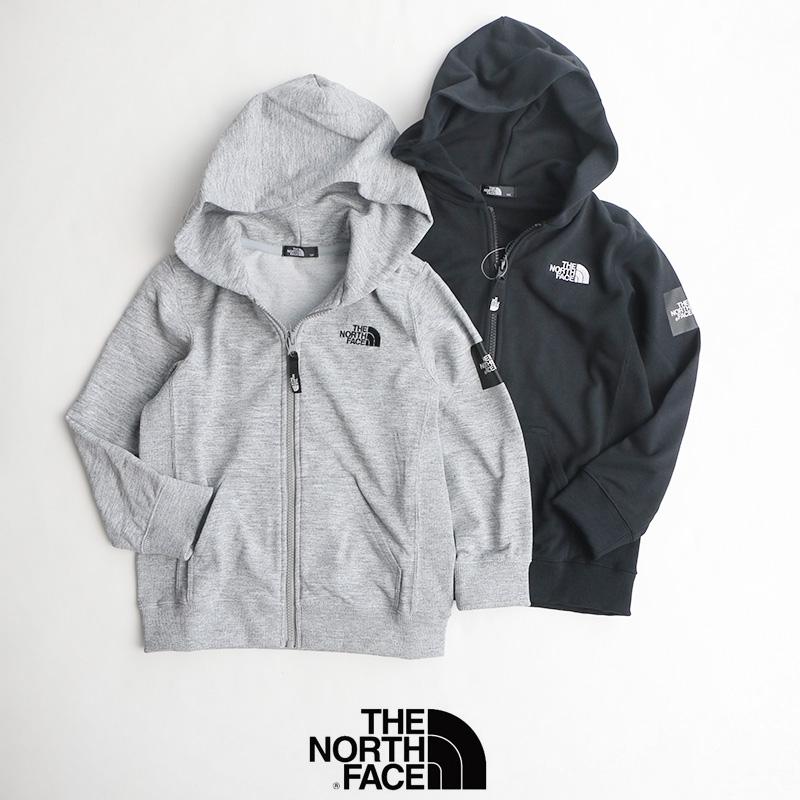 【2019AW】【kids】THE NORTH FACE ザ・ノースフェイス Square Logo Full Zip スクエアロゴフルジップ(キッズ) NTJ61921
