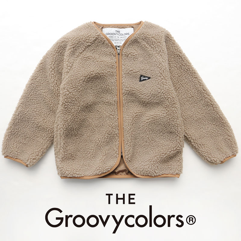 【2019AW】【kids】THE GROOVY COLORS グルービーカラーズ シープボアノーカラーブルゾン 1698204