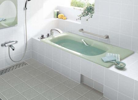 INAX 一般浴槽 シャイントーン浴槽和洋折衷タイプ 1400サイズ 高齢者配慮浴槽VBN-1420HP