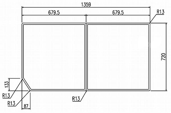 LIXIL(リクシル) INAX 風呂フタ・風呂ふたYFK-1475B(6) ・カラー ホワイト