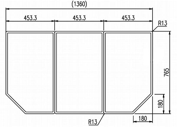 LIXIL(リクシル) INAX 風呂フタ・風呂ふたYFK-1477C(1) ・カラー ホワイト