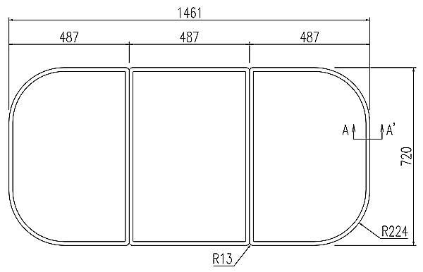 LIXIL(リクシル) INAX 風呂フタ・風呂ふたYFK-1575C(1) ・カラー ホワイト
