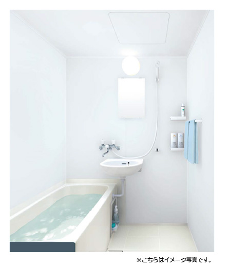 TOTO 和風ユニットバスJHVシリーズ(賃貸向け)1014サイズ(内寸1010×1400mm)●洗面器付・2ハンドル兼用水栓プラン