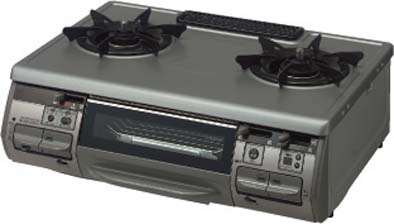 クリナップ キッチン 共通機器 ガステーブルZGNZR6R07BKF-K 間口59cm
