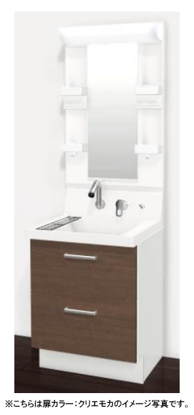 LIXIL(リクシル) INAX 洗面化粧台 ピアラ●間口600mm●フルスライドタイプ●一面鏡(収納付き)●扉カラー・スタンダードAR3FH-605SY + MARE-601XS_