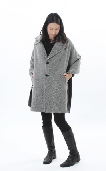 【あす楽対応】衿ショール・ウォームツイード 《デザインコート 纏tenとモーハウスのコラボレーション デザインショール》