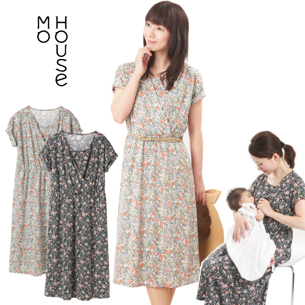 bb5e4904f Nursing clothes maternity wear fioriture << dress maternity clothes  floral design mho house ...