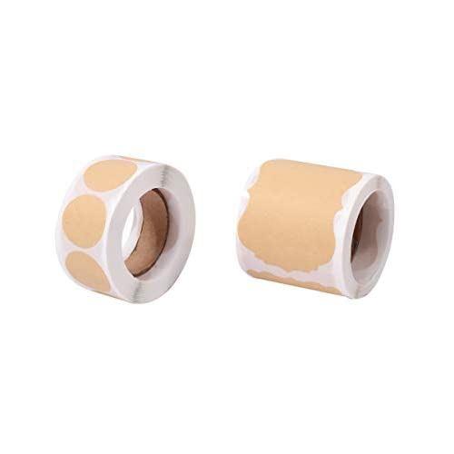 おしゃれ 信用 クラフト紙 ラベルステッカー 600枚セット 長方形 丸型 ロールシール ブラウン 100%品質保証! ラベルシール ありがとう