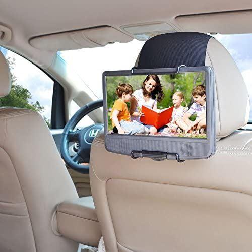 最新号掲載アイテム WANPOOL自動車後部座席のヘッドレストに乗せるの車載用スタンドは 爆売りセール開催中 もっぱら7-10インチのポータブル回転可能DVDプレーヤー専用にデザインされたものです-黒色
