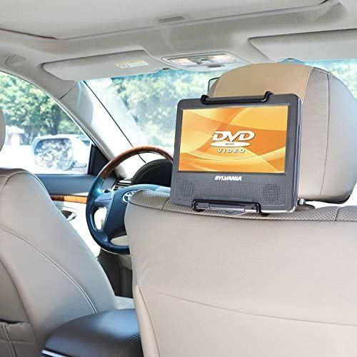 マート アイテム勢ぞろい WANPOOL自動車後部座席のヘッドレストに乗せるの車載用スタンドは もっぱら7-10インチのポータブル回転可能DVDプレーヤー専用にデザインされたものです-黄色がかったクリーム色
