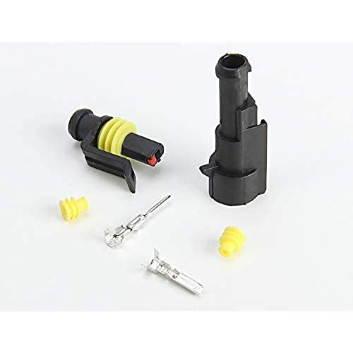 10セット入り 防水コネクタ 再再販 高圧防水カプラー 密閉型 電線 カプラー OUTLET SALE HID 1極 車用 オス 接続 pin 自動車 接続コネクター メス 細線 配線 1 端子